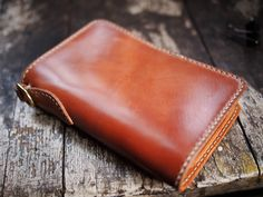 Image of Natural Horween Shell Cordovan Midlength Wallet