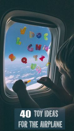 Flying with kids soon? Checkout our 40 Toy Ideas for the Airplane! to make flying with your kids more manageable. Traveling With Baby, Travel With Kids, Family Travel, Flying With A Toddler, Toddler Fun, Kids Travel Activities, Infant Activities, Airplane Travel, Car Travel