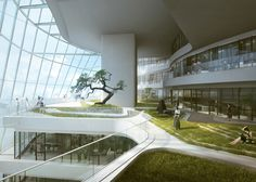 MAD designs human-body-inspired building for Chinese fashion brand
