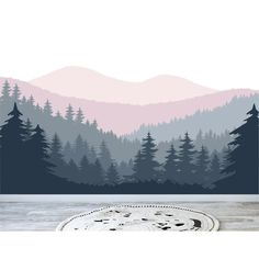 Mountain Wall Decal / Nursery Wall Decor / Mountain Mural / Forest Wall Decal / Peel and Stick Mountains Mountain Mural, Mountain Nursery, Mountain Bedroom, Mountain Decor, Mountain Designs, Nursery Wall Decals, Wall Mural Decals, Rustic Wall Decals, Nursery Murals