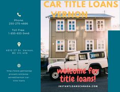 Car title loans Vernon- Best Financial auto loans around British columbia is car title loans vernon Call us: 250-275-4666 Visit: http://www.instantloanscanada.com/area-served/car-title-loans-british-columbia/Vernon