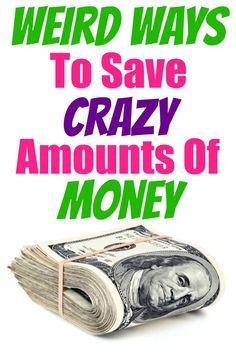 weird ways to save money