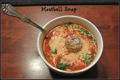 Meatball and Spinach Soup Recipe