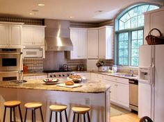 Kitchen, Beautiful Picture Designs Kitchen Remodel Good White Color Picture Designs Nice Shaped Good Small Shaped Window Picture Good Some Chairs Circle Shaped Brown Color ~ Make Your Designs Of Kitchen Looks So Nice With Virtual Kitchen Remodel