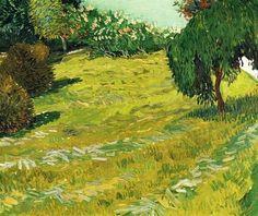 wonderingaboutitall: jardin avec Weeping Willow - Vincent van Gogh