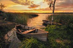 Photographer Olegs Bucis (Bucis) - Озеро Нирзас в золотистом закате #1123545. 35PHOTO