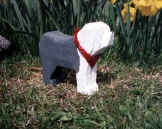 Chainsaw Carving - Old English Sheepdog