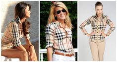 May I have a Burberry Shirt? This has to be a must have in any preppy closet. Camisa Burberry, Burberry Plaid, Burberry Shirt, Burberry Classic, Burberry Outfit, Fall Outfits, Summer Outfits, Cute Outfits, Spring Summer Fashion