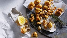 Chickpea and caraway seed battered cauliflower, black olives and rosemary recipe : SBS Food