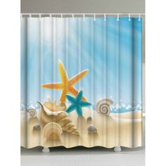 Window Treatments & Hardware Bath Fashion Style 3d Starfish Corals 7 Shower Curtain Waterproof Fiber Bathroom Windows Toilet To Enjoy High Reputation At Home And Abroad