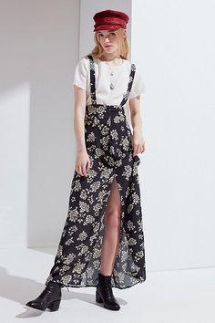 Flynn Skye Moss Suspender Maxi Skirt