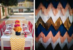 chevron dinner glam