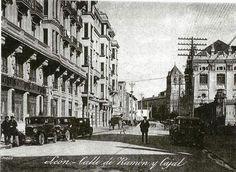 León, fotos antiguas, calle de Ramón y Cajal