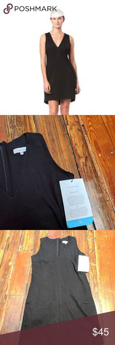 fab9b98a5fc Cuyana x Real Simple minimalist black v-neck NWT! color  black v-neck dress  size  small has pockets! All items come from a smoke-free and pet-free home  ...