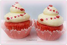 Cherry Vanilla & Cream Cheese Cupcakes