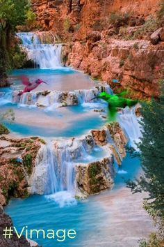 17 Most Beautiful Places to Visit in Arizona - The Crazy Tou.- 17 Most Beautiful Places to Visit in Arizona – The Crazy Tourist Beaver Falls on Havasu Creek, Grand Canyon, Arizona - Beautiful Waterfalls, Beautiful Landscapes, Beautiful Places To Visit, Places To See, Beautiful Places In The World, Beautiful Vacation Spots, Beautiful Natural Places, Beautiful Things, Amazing Places On Earth