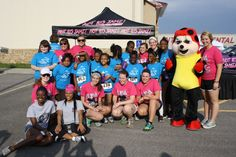 Dot, Alpha Sigma Alpha's official mascot, travels across the country to attend Girls on the Run 5K events to cheer on the girls!