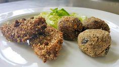 Il tacchino è un'ottima carne adatta alla dieta del gruppo sanguigno di tutti. Le crocchette di melanzane sono riservate a B e AB. Gusta il piatto a pranzo.