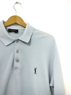 b341817d7f26 Yves Saint Laurent. YVES SAINT LAURENT SHORT SLEEVE POLO SHIRT EMBROIDERY  ON THE FRONT Size  US L   EU 52-54 ...