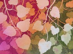 The Painted Prism: WATERCOLOR WORKSHOP: Negative Painting of Aspen Leaves