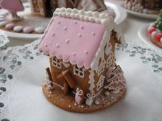 ginger bread small pink house