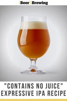 "Alvarado Street Brewery's Double IPA is a total ""juice bomb"" without the juice (and rated at a on Untappd​)! Brewing Recipes, Homebrew Recipes, Beer Recipes, Recipies, Ipa Recipe, Most Popular Beers, Double Ipa, Dark Beer, Homemade Wine"