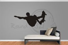 Skateboard Decal For Walls Decorative Decal With Boy by Round321, $22.00