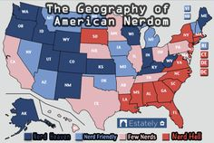 What Are The Nerdiest States In America?-- Apparently I live in nerd hell. Color me unsurprised.