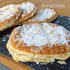 Tortas de hojaldre y azúcar Mexican Food Recipes, Sweet Recipes, Dessert Recipes, Spanish Desserts, Spanish Cuisine, Spanish Recipes, Meals For Four, Venezuelan Food, Delicious Deserts