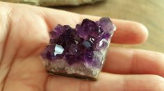 Uruguayan Dark Amethyst cluster extra quality ~ 1 small reiki infused cluster approx 42x32x20mm (SUA29) by Kiliamma on Etsy