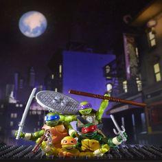 8/10/15 TMNT Mega Bloks Teenage Mutant Ninja Turtles Figures