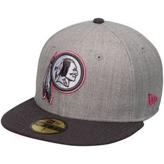 Washington Redskins New Era Breast Cancer Awareness On-Field 59FIFTY Fitted  Hat - Gray  31ebf1a86d8