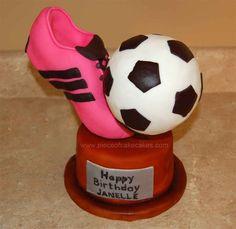 how make a award trophy cake ile ilgili görsel sonucu Bday Girl, Birthday Cake Girls, 11th Birthday, Birthday Cakes, Birthday Ideas, Soccer Birthday Parties, Soccer Party, Soccer Ball Cake, Soccer Cakes