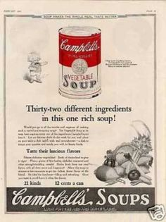 "Campbell's Vegetable Soup Ad ""Thirty-two... (1923)"