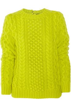 Cable-knit wool and cashmere-blend sweater by Joseph
