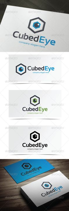 Cubed Eye - Logo Design Template Vector #logotype Download it here: http://graphicriver.net/item/cubed-eye/5483520?s_rank=974?ref=nexion