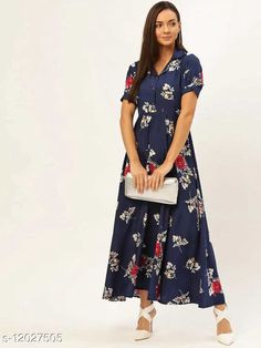 Checkout this latest Dresses Product Name: *Trendy Fashionable Printed Women Dresses VOL.2* Fabric: Crepe Sleeve Length: Short Sleeves Pattern: Printed Multipack: 1 Sizes: S (Bust Size: 36 in, Length Size: 52 in)  M (Bust Size: 38 in, Length Size: 52 in)  L (Bust Size: 40 in, Length Size: 52 in)  XL (Bust Size: 42 in, Length Size: 52 in)  XXL (Bust Size: 44 in, Length Size: 52 in)  Country of Origin: India Easy Returns Available In Case Of Any Issue   Catalog Rating: ★4 (502)  Catalog Name: Fancy Glamorous Women Dresses CatalogID_2292342 C79-SC1025 Code: 304-12027505-2001
