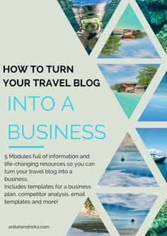 How to turn your travel blog into a business!  A 5-module course with loads of freebies.  Pre-register now so you will be the first to know in July when it goes live.  The first 100 people who register will get 50% off when it comes out!