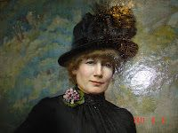 Swedish artist Jenny Nystrom - self portrait.