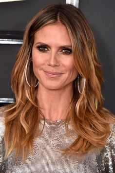 See the best beauty looks from the 2017 Grammys red carpet here, like on Heidi Klum..
