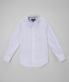 Look at this Grape Tattersall Brushed Twill Button-Up - Toddler & Boys on #zulily today!