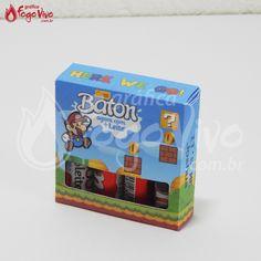 Caixa p/ Baton Super Mario Bros. Link: http://www.graficafogovivo.com.br/loja/shapes/kits-digitais/kit-digital-super-mario-bros.html