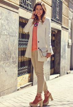 Alejandra – Polka dot jeans – Villarrazo Madrid  , Blanco in , Stradivarius in , Sixty Seven in , Teria Yabar in , Mango in