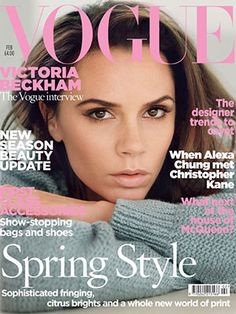 Victoria Beckham Will Complete Quest For World Domination In Vogue