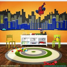CHECK LINK IN PROFILE.  decalideas#interiordecor #interiordesign #interiors #interior #room #sticker #stickerdinding #wall #wallart #walldecals #wallsticker #instaart #instapic #instacool #instagood #simplywalldecals #superhero #spiderman #gothamcity #walldecal #nurseryroom #kidsroom #naturedecal #treedecal #livingroom #wallpaper #wallsticker #christmasgift    #Regram via @9NaPdXoAiV