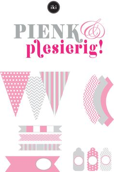 Pienk & Plesierig - free printables