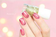 Pink Glitter Gradiënt nail Art