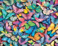 Ready for a super-challenge? This 1,000pc butterflies collage puzzle will keep you busy! http://www.seriouspuzzles.com/i7090.asp