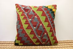 Throw Kilim Pillow 20 x 20 Decorative Pillow by kilimwarehouse, $60.00