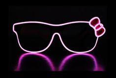 Hello Kitty El Wire Glasses - Light up Festival Glasses